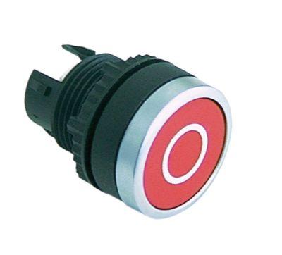 κουμπί διαστ. τοποθέτ. ø22mm  κόκκινο O
