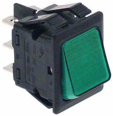 διακόπτης διαστ. τοποθέτ. ορθογώνιο πράσινο 2CO  400V 10A  -  - σύνδεσμος αρσενικό εξάρτημα 6,3mm