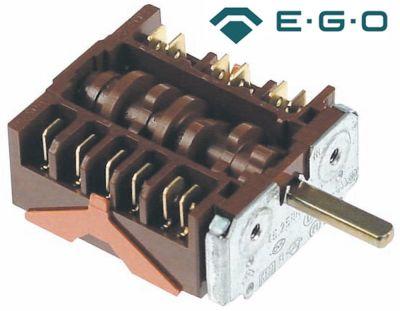 διακόπτης λειτουργίας 5 θέσεις λειτουργίας ακολουθία 0-1-2-3-4  ø άξονα 6x4,6 mm