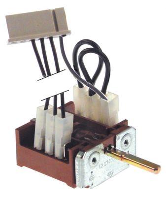 διακόπτης λειτουργίας 7 θέσεις λειτουργίας 3NO  ακολουθία 0-1-2-3-4-5-6  16A ø άξονα 6x4,6 mm