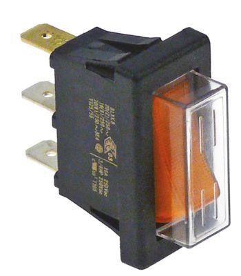 διακόπτης ορθογώνιο πορτοκαλί 1NO/ενδεικτική λυχνία 250V 16A