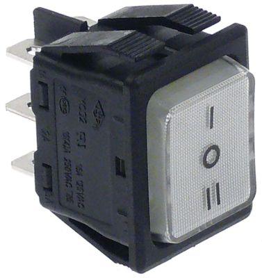 διακόπτης διαστ. τοποθέτ. με νεκρή θέση ορθογώνιο λευκό 2NO/2NO  250V 16A  - I O II
