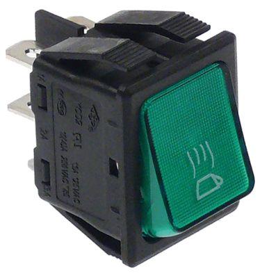 διακόπτης διαστ. τοποθέτ. ορθογώνιο πράσινο 2NO  250V 16A  - συσκευή θέρμανσης φλιτζανιών