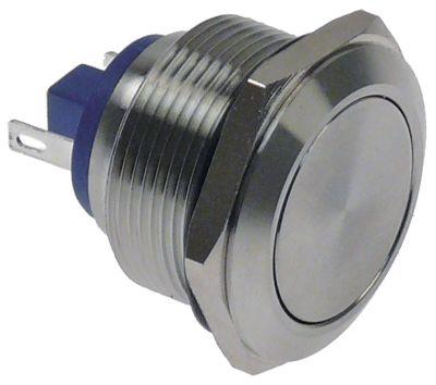 πληκτροδιακόπτης μεταλλικό στρογγυλό ασημί 230V 2 πόλων για μοντέλο μπόιλερ νερού