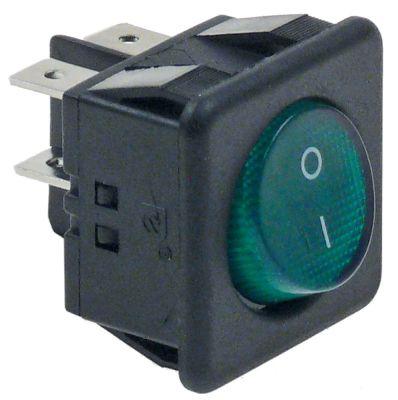 διακόπτης διαστ. τοποθέτ. 28x24  0-1  250V 16A σύνδεσμος αρσενικό εξάρτημα 6,3mm