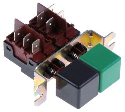 συνδυασμένοι διακόπτες διαστ. τοποθέτ.  - μαύρο/πράσινο 1CO/2NO  250V