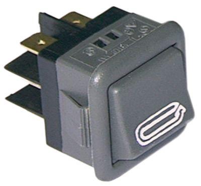 στιγμιαίος διακόπτης τετράγωνο μαύρο 2CO  250V 16A START  σύνδεσμος αρσενικό εξάρτημα 6,3mm
