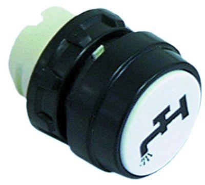 κουμπί πίεσης διαστ. τοποθέτ. ø22mm  λευκό νερό