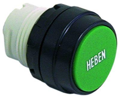 κουμπί πίεσης διαστ. τοποθέτ. ø22mm  πράσινο ανύψωση