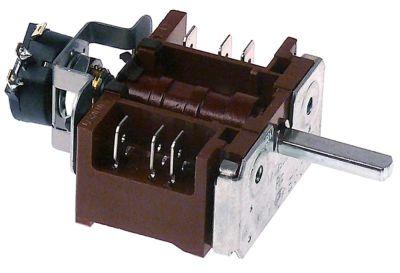 διακόπτης λειτουργίας 16A ακολουθία 0-1  ø άξονα 6x4,6 mm Μ άξονα 23mm