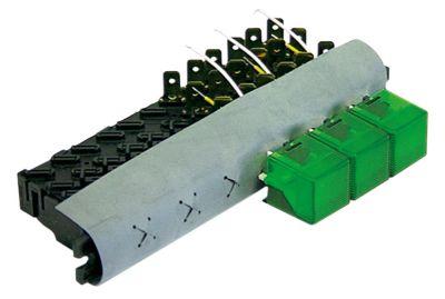 συνδυασμένοι διακόπτες διαστ. τοποθέτ.  - τετράγωνο πράσινο  - 240V 16A  -  -