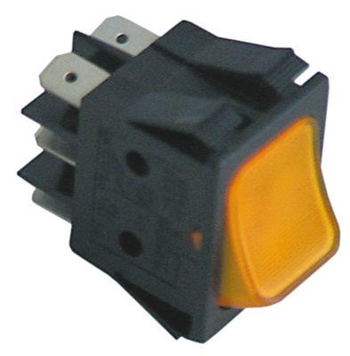 στιγμιαίος διακόπτης φωτιζόμενο ορθογώνιο πορτοκαλί 2CO  250V 16A