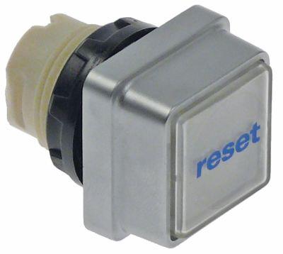 κουμπί πίεσης διαστ. τοποθέτ. ø22mm  διαφανές επαναφορά