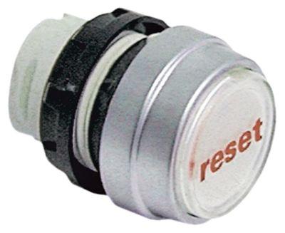 κουμπί πίεσης διαστ. τοποθέτ. ø22mm  λευκό επαναφορά