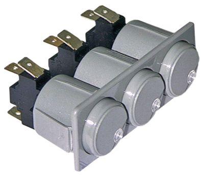 συνδυασμένοι διακόπτες διαστ. τοποθέτ. 28,5x77,5mm στρογγυλό γκρι 1CO/1CO/1CO  250V 16A  -  -  -