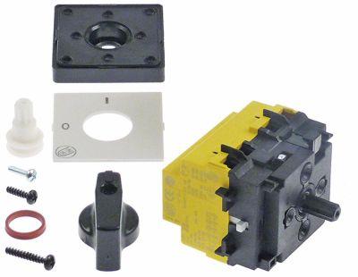περιστροφικός διακόπτη 2 0-1  690V 40A σετ επαφών 4 ø άξονα 6x4,6 mm Μ άξονα 15mm