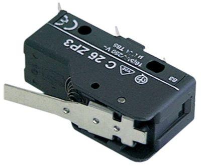 μικροδιακόπτης με μοχλό 250V 16A 1CO  σύνδεσμος αρσενικό εξάρτημα