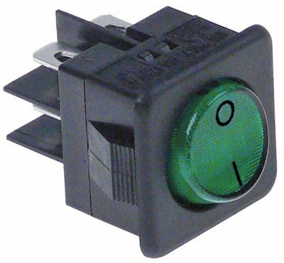 διακόπτης διαστ. τοποθέτ. 25,5x25mm πράσινο 2NO  250V σύνδεσμος αρσενικό εξάρτημα 6,3mm 0-I  16A