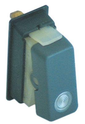 διακόπτης ορθογώνιο διαφανές 11NO  230V 16A σύνδεσμος αρσενικό εξάρτημα 4,8mm