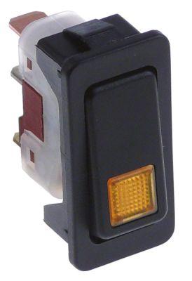 διακόπτης ορθογώνιο πορτοκαλί 1NO/ενδεικτική λυχνία 250V 10A