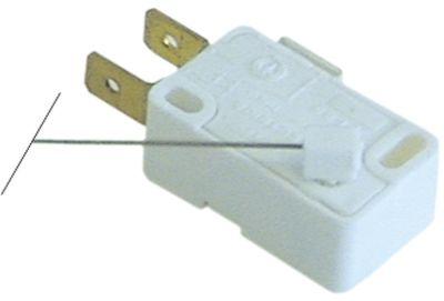 μικροδιακόπτης με μοχλό λειτουργία με μοχλό 250V 6A 1CO  σύνδεσμος αρσενικό εξάρτημα 6,3mm Μ 113mm