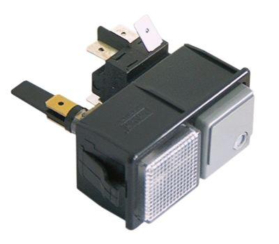 συνδυασμένοι διακόπτες μανδάλωση τετράγωνο γκρι/διάφανο 2CO/ενδεικτική λυχνία 250V 16A