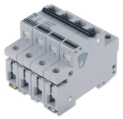 διακόπτης προστασίας αγωγών 3 πόλου + N 20A τύπος ενεργοποίησης K  ονομαστική τιμή 400V