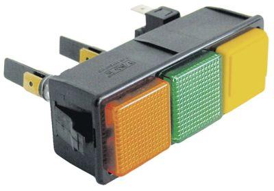συνδυασμένοι διακόπτες διαστ. τοποθέτ. 28,5x77,5mm μανδάλωση τετράγωνο πορτοκαλί/πράσινο/κίτρινο