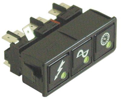 συνδυασμένοι διακόπτες διαστ. τοποθέτ. 28,5x77,5mm μαύρο 2CO/2NO/2NO  250V