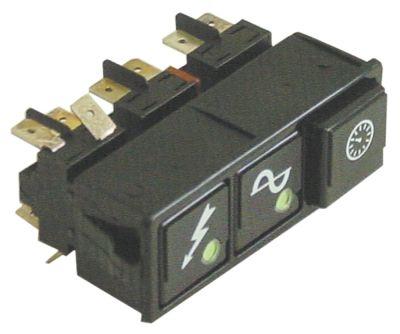 συνδυασμένοι διακόπτες διαστ. τοποθέτ. 28,5x77,5mm μανδάλωση/μανδάλωση/στιγμιαίο τετράγωνο μαύρο