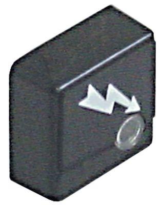 κουμπί πίεσης μέγεθος 23x23 mm μαύρο φλας με φακό