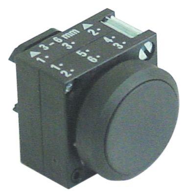 κουμπί πίεσης διαστ. τοποθέτ. ø22mm  μαύρο