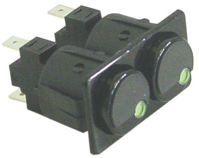 συνδυασμένοι διακόπτες στρογγυλό μαύρο 250V 16A σύνδεσμος αρσενικό εξάρτημα 6,3mm