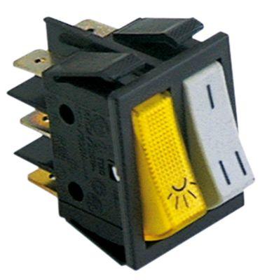 διακόπτης διαστ. τοποθέτ. ορθογώνιο λευκό/κίτρινο 1NO/1NO 250V 16A  - φωτισμός, I-II