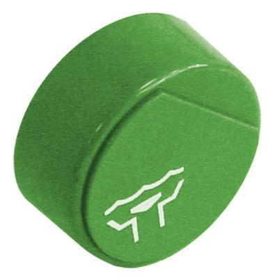 κουμπί πίεσης ø 23mm πράσινο εκροή  -