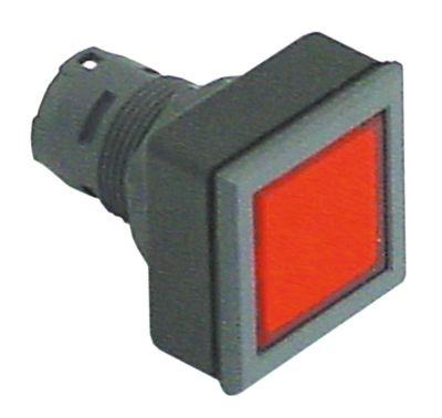 στιγμιαίος διακόπτης διαστ. τοποθέτ. ø16/24x24mm τύπος στιγμιαίο μαύρο/κόκκινο  - τετράγωνο