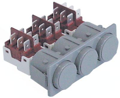 συνδυασμένοι διακόπτες διαστ. τοποθέτ. μανδάλωση στρογγυλό γκρι 2CO/2CO/2CO  250V 16A  -  -  -