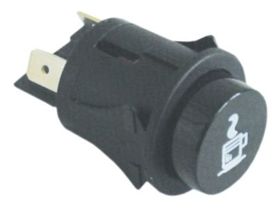 πληκτροδιακόπτης διαστ. τοποθέτ. ø25mm στρογγυλό μαύρο 2NO  250V 16A  -  - καφές