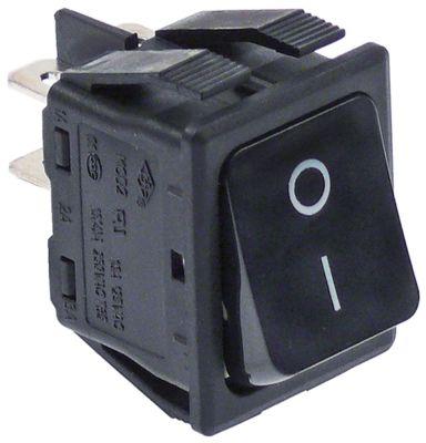 στιγμιαίος διακόπτης διαστ. τοποθέτ. 30x22mm ορθογώνιο 2NO  μαύρο 250V 16A  - 0-I