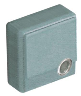 κουμπί πίεσης μέγεθος 23x23 mm γκρι  - με φακό