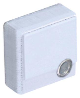κουμπί πίεσης μέγεθος 23x23 mm λευκό  - με φακό