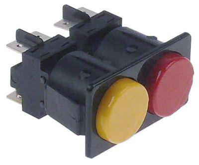 συνδυασμένοι διακόπτες διαστ. τοποθέτ. μανδάλωση στρογγυλό κίτρινο/κόκκινο 2NO/2NO  230V 16A  -  -