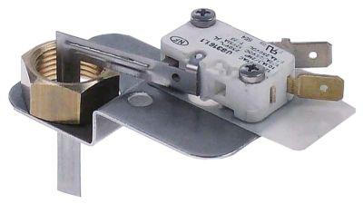 μικροδιακόπτης με μοχλό 250V 16A 1NO  σύνδεσμος αρσενικό εξάρτημα 6,3mm Μ 46.5mm