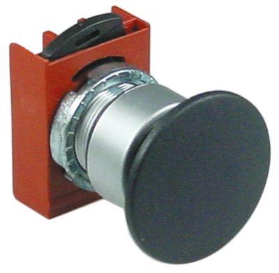 κουμπί πίεσης διαστ. τοποθέτ. ø22mm  μαύρο χωρίς διακόπτη