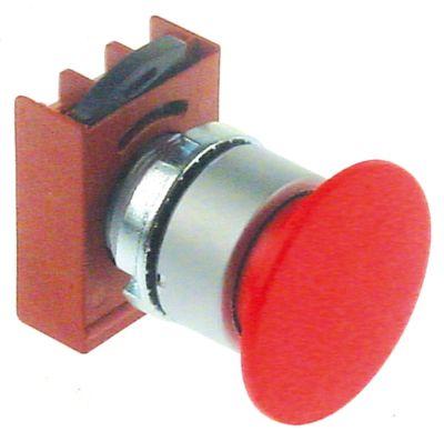 στιγμιαίος διακόπτης διαστ. τοποθέτ. ø22mm  κόκκινο
