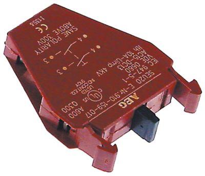 μπλοκ διακόπτη GENERAL ELECTRIC  P9B20VN  2NO  μέγ. 660V 10A κόκκινο