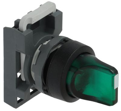 περιστροφικός επιλογέας διαστ. τοποθέτ. ø22mm  πράσινο μανδάλωση ακολουθία 1-0-2