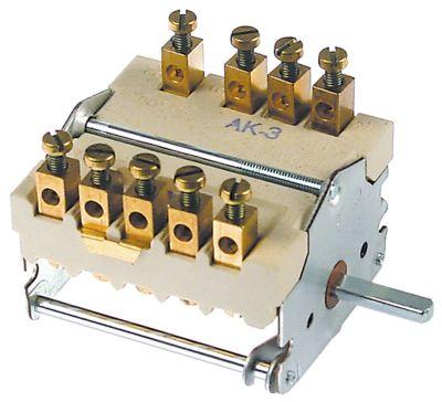 διακόπτης λειτουργίας 3 θέσεις λειτουργίας 3NO/1CO  ακολουθία 0-1-2  32A ø άξονα 6x4,6 mm