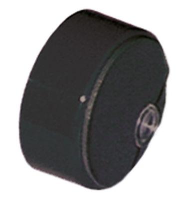 κουμπί πίεσης ø 23mm μαύρο  - με φακό