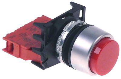 κουμπί πίεσης ø22mm  κόκκινο 1NC  πλήρες με κάλυμμα προστασίας